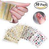 RUIMIO Nail Stickers Decals 3D Nail Art Designs 30 Sheet