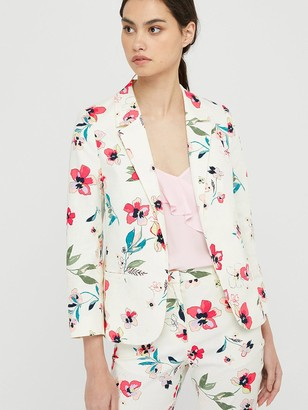 Monsoon Maisy Floral Print Jacket - Ivory