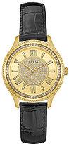 GUESS Glitz Analog Leather-Strap Watch