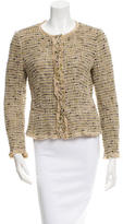 Prada Tweed Fringe-Trimmed Jacket