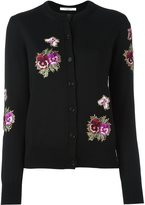 Givenchy floral embroidered cardigan - women - Polyester/Viscose/Wool - M