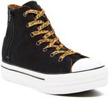 Converse Chuck Taylor Platform Zip Hi-Top Black Sneaker (Big Kid)