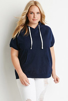Forever 21 FOREVER 21+ Plus Size Cotton-Blend Raglan Hoodie