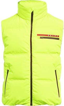 Prada sleeveless nylon puffer jacket