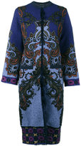 Etro Mongolia cardigan coat - women - Acrylic/Polyamide/Polyester/Lamb Fur - 38