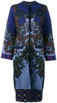 Etro Mongolia cardigan coat - women - Acrylic/Polyamide/Polyester/Lamb Fur - 40