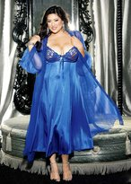 Shirley of Hollywood Plus Size Sexy Full Figure Long Gown Peignoir Lingerie Set