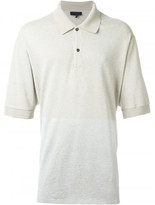Lanvin contrast panel polo shirt