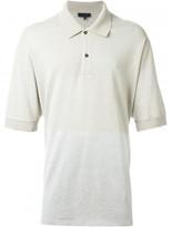 Lanvin contrast panel polo shirt