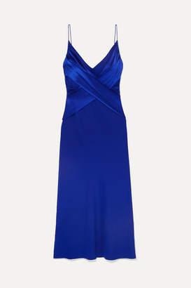 Dion Lee Draped Silk-satin Midi Dress - Blue