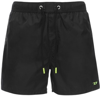 Diesel LOGO EMBROIDERED NYLON SWIM SHORTS
