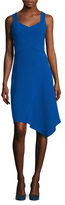Shoshanna Textured Asymmetrical Dress