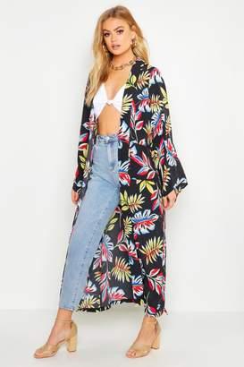 boohoo Floral Maxi Belted Kimono