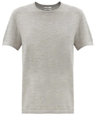Co Round-neck Knitted Cashmere T-shirt - Dark Grey