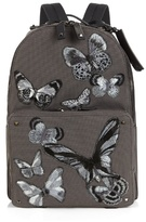 Valentino Butterfly Appliqué Canvas Backpack