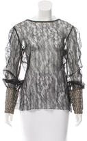 Chanel Sheer Lace Top