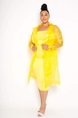 Couture Buxom Organza Tie Waist Jacket in Yellow Size 1X