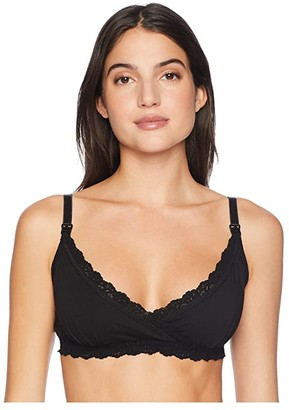 Hanky Panky Organically Grown Cotton Nursing Bralette (Black) Women's Bra