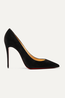 Christian Louboutin Kate 100 Suede Pumps - Black