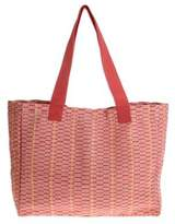 Cotton Patterned Tote Handbag from Central America, 'Salmon Honeycomb'