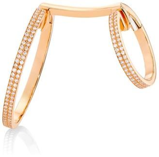 Repossi 18K Rose Gold & Diamond Elliptiques Earring