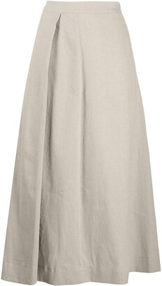 Fabiana Filippi pleat-side A-line skirt