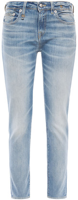R 13 Alison Faded Mid-rise Skinny Jeans