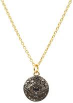 Latelita Diamond & Sapphire Evil Eye Necklace Gold