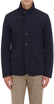 Fay Men's Tech-Twill Walking Jacket-NAVY