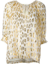 Manoush metallic animal print blouse - women - Silk/Polyester/Metallic Fibre - 36