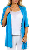 24/7 Comfort Apparel Women's 3/4 Sleeve Open Shrug