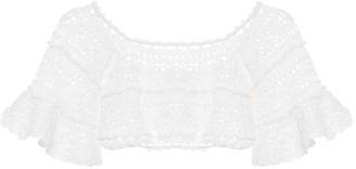Anna Kosturova Jocelyn crochet cotton crop top