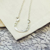 Anna Lou of London Silver Lucky Horseshoe Necklace