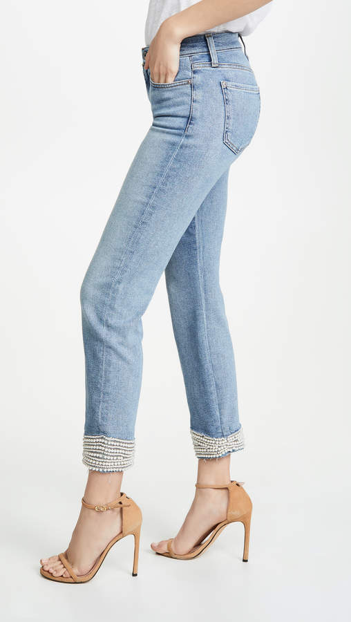 7 For All Mankind Imitation Pearl Jeans