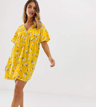 Wednesday's Girl smock dress in bright floral-Yellow