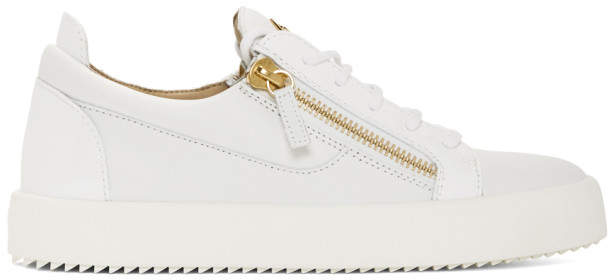 Giuseppe Zanotti White May London Frankie Sneakers