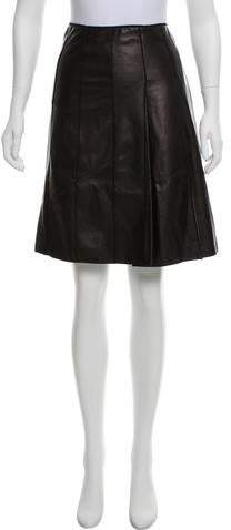 b66c638430 Marc Jacobs Leather Skirt - ShopStyle