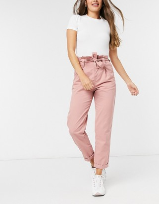 Miss Selfridge cargo trouser in pink