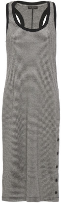 Rag & Bone Button-detailed Houndstooth Cotton-blend Jersey Dress