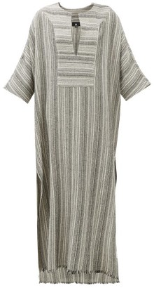 SU PARIS Lia Striped Cotton Kaftan - Grey Stripe