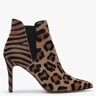 Daniel Adril Leopard Calf Hair Ankle Boots