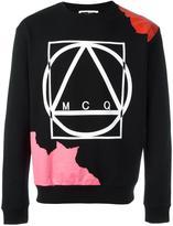 McQ by Alexander McQueen abstract glyph icon print sweatshirt