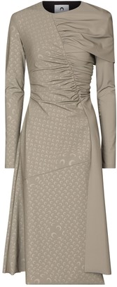 Marine Serre Reflective stretch-jersey midi dress