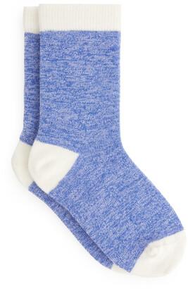 Arket Colour-Block Melange Socks