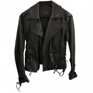 Bally Brown Leather Jacket for Women