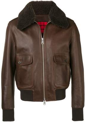 Ami Paris Jacket With Shearling Collar