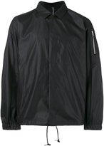 Attachment drawstring lightweight jacket - men - Polyester/Rayon - I