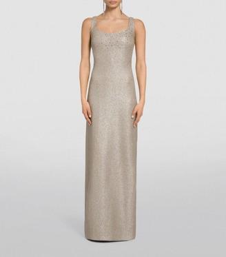 St. John Glittering Knit Evening Gown