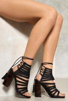Nasty Gal Justify Strappy Heel