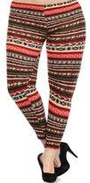 Leggings4U Women's Plus Size Print Leggings